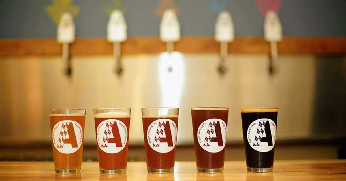 Argyle Brewing Co beer lined up