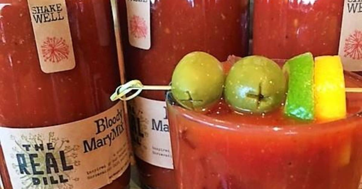 bloody mary mix next to drink