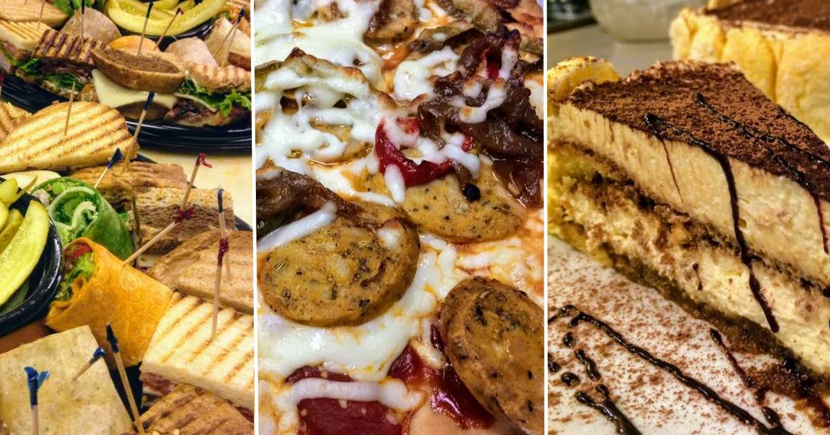 image split in three of different kinds of food