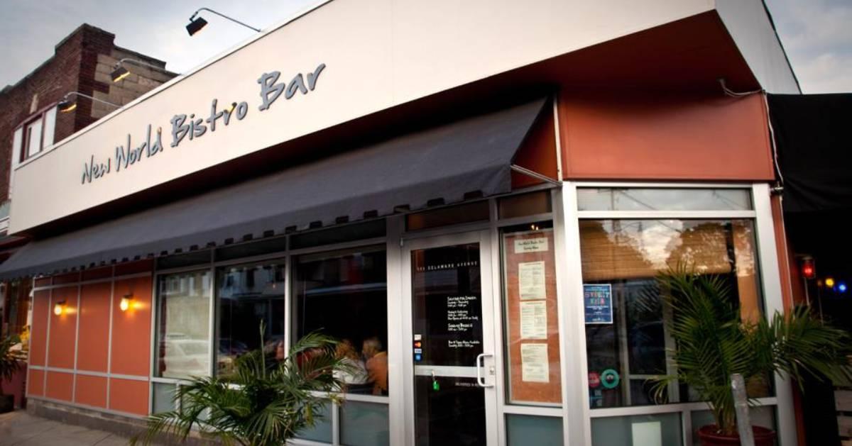 exterior of new world bistro bar