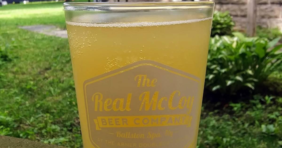 Real McCoy beer in glass