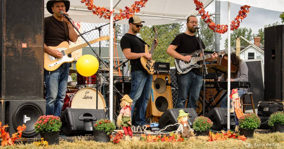 band plays at fall festival