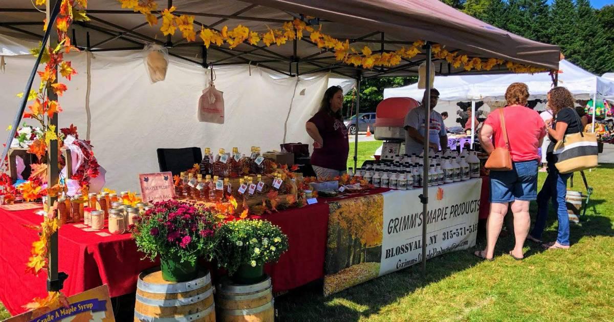 vendor booth at fall festival