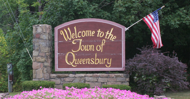 sign for town of Queensbury