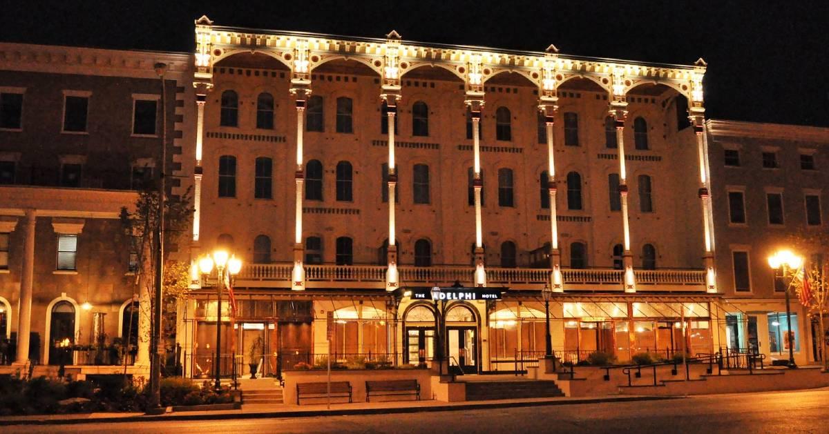 exterior of the adelphi hotel