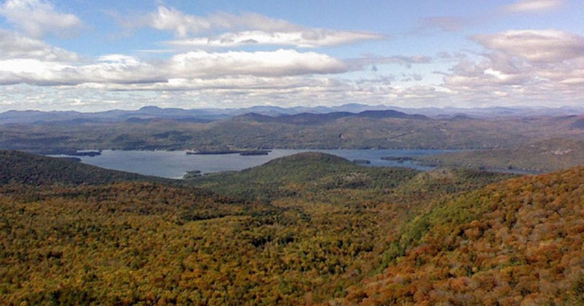 fall foliage covering mountains
