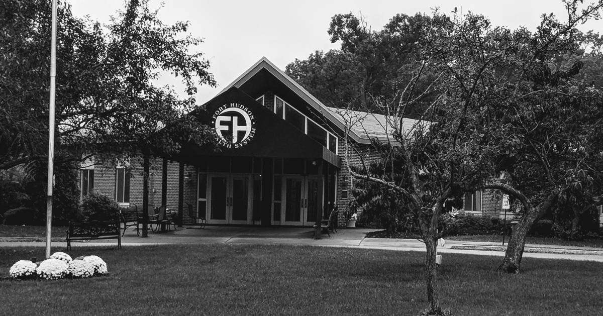 black and white photo of Fort Hudson Health System