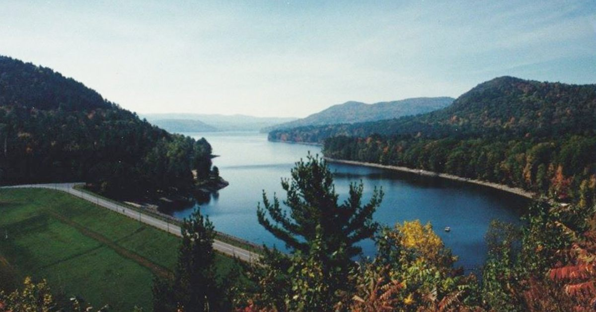 scenic overlook view of a lake