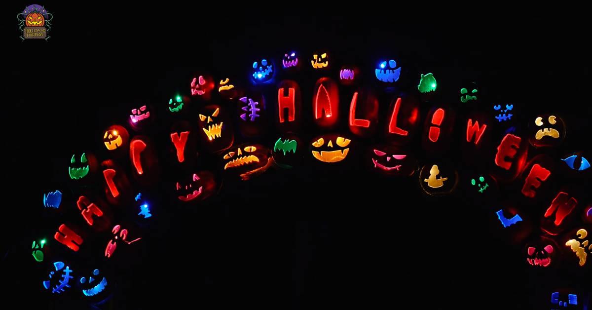 colorful jack o lanterns