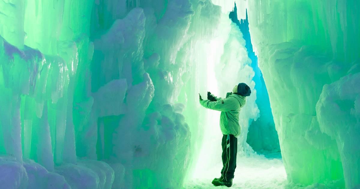little boy in Ice Castles