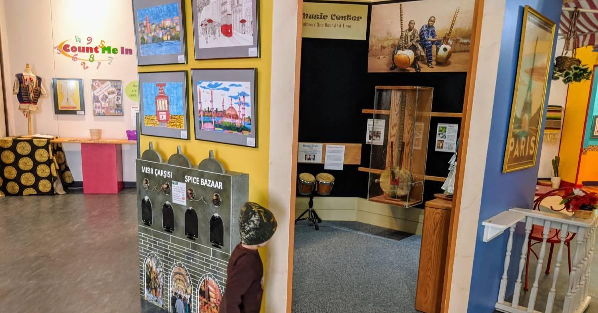 kid walking through kids museum