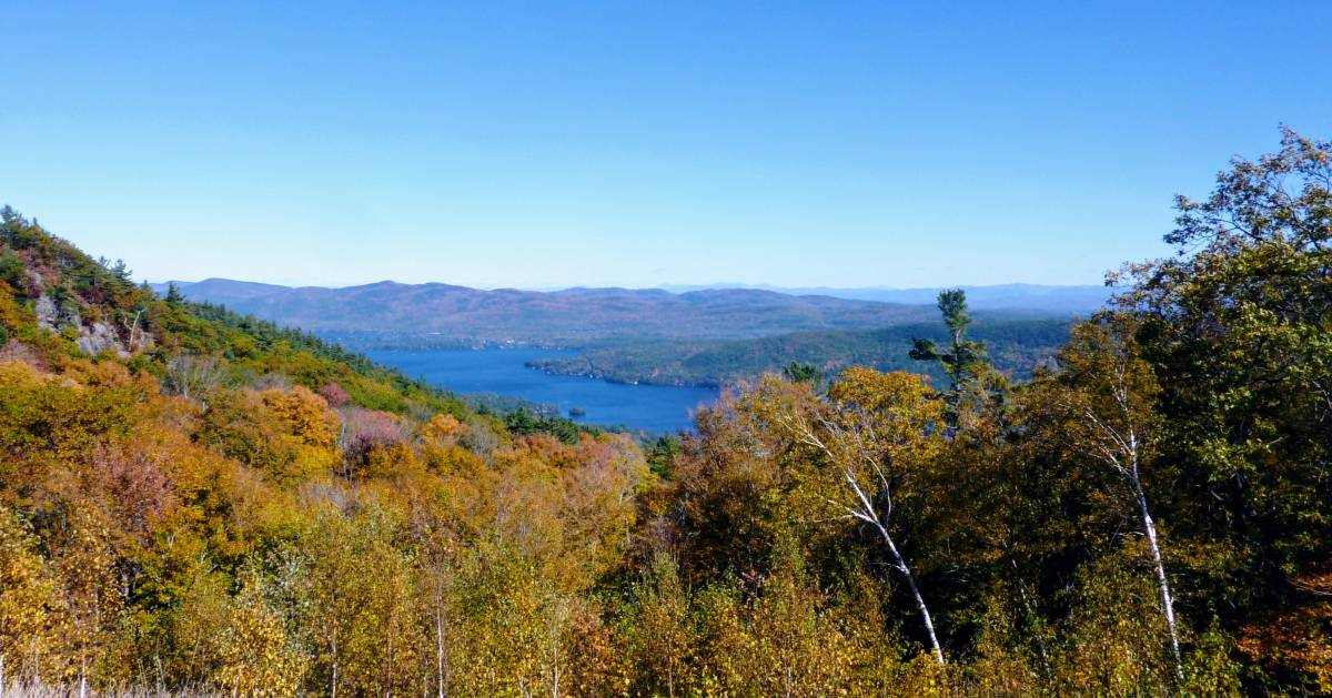 view from Prospect Mountain in the fall