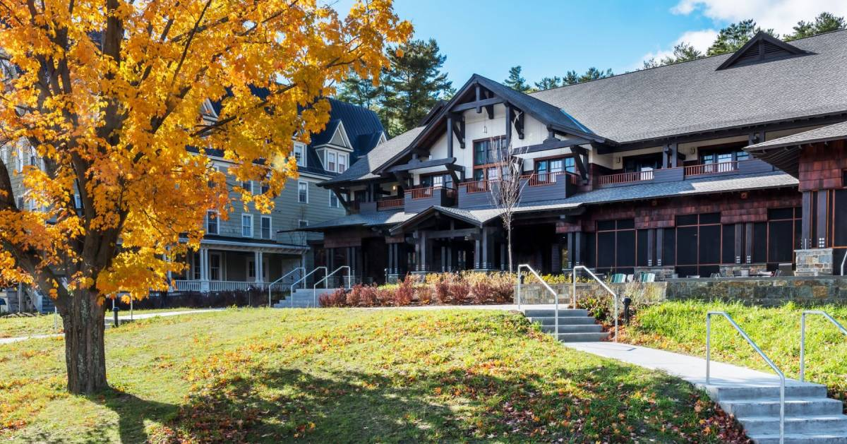 retreat center in the fall