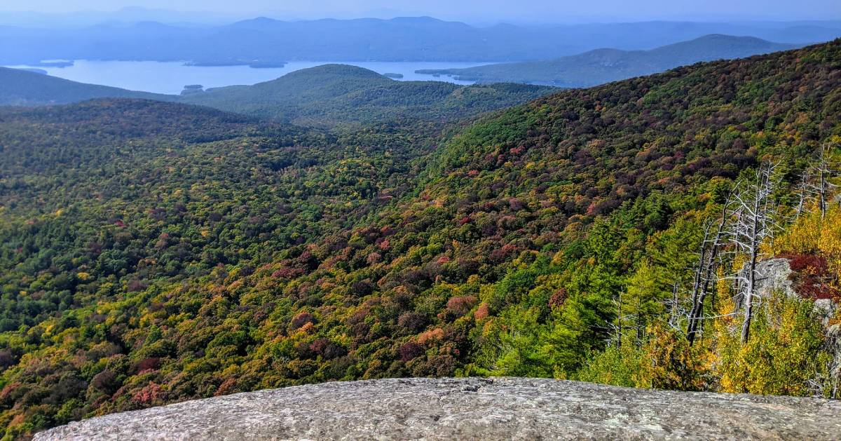 fall view from mountain summit