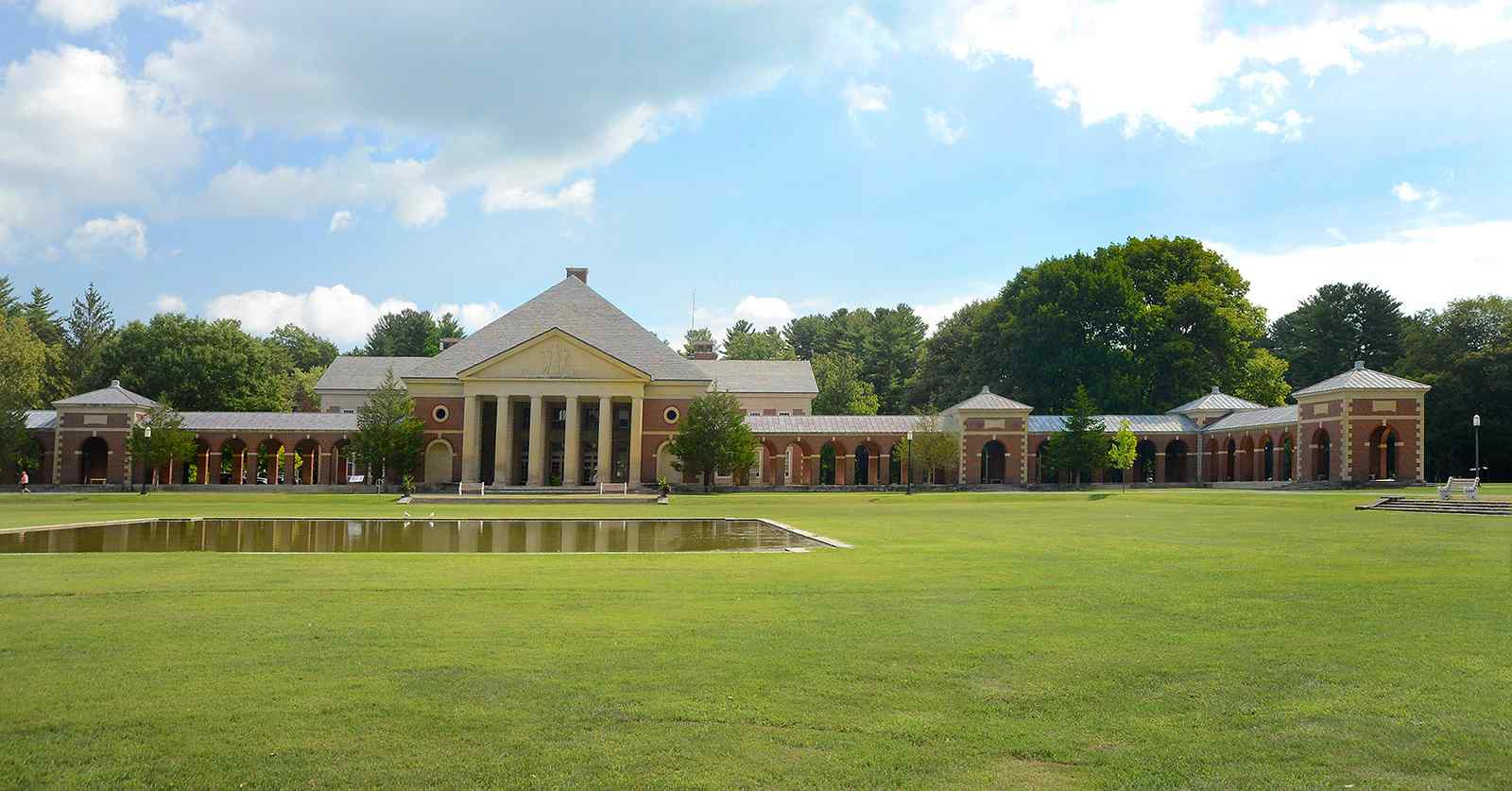 view of a large building in saratoga spa state park