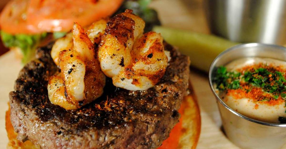 burger with shrimp