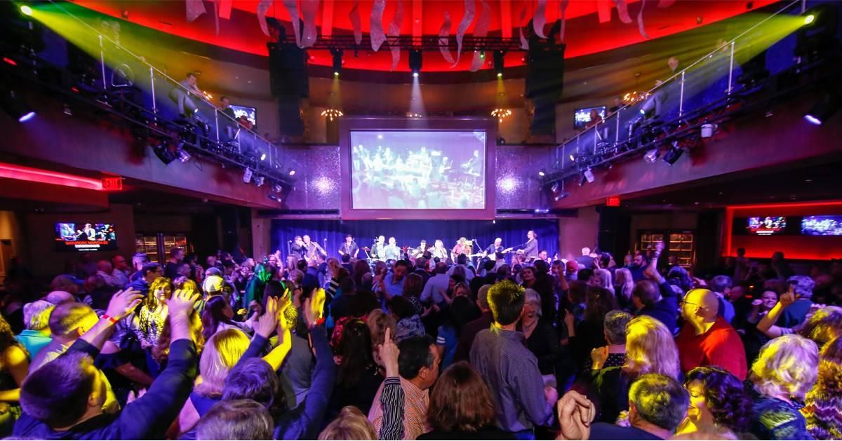crowd dancing at nightclub