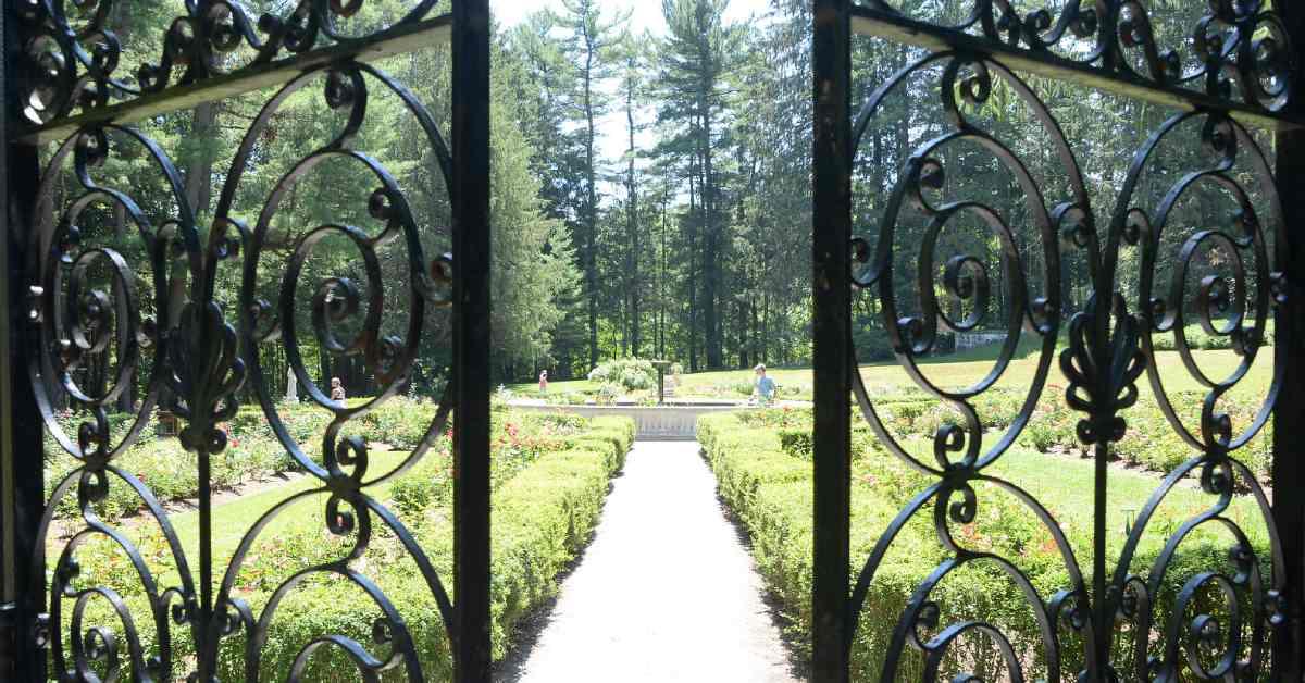 gate leading into vast gardens