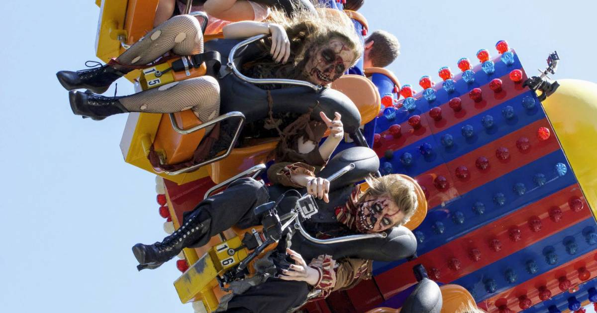 zombies on a thrill ride