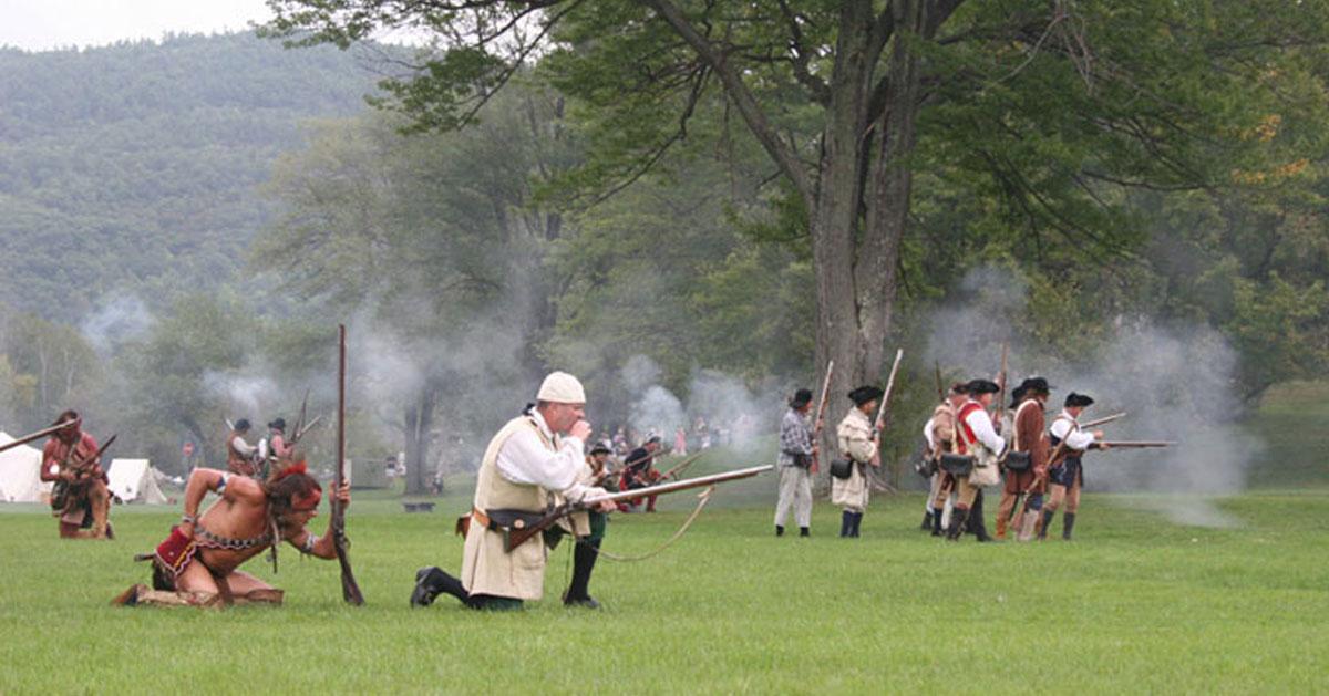 a battle reenactment