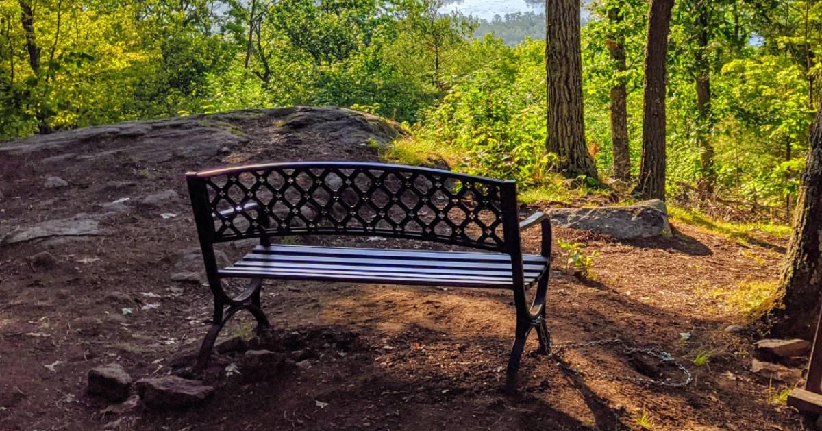 bench on summit