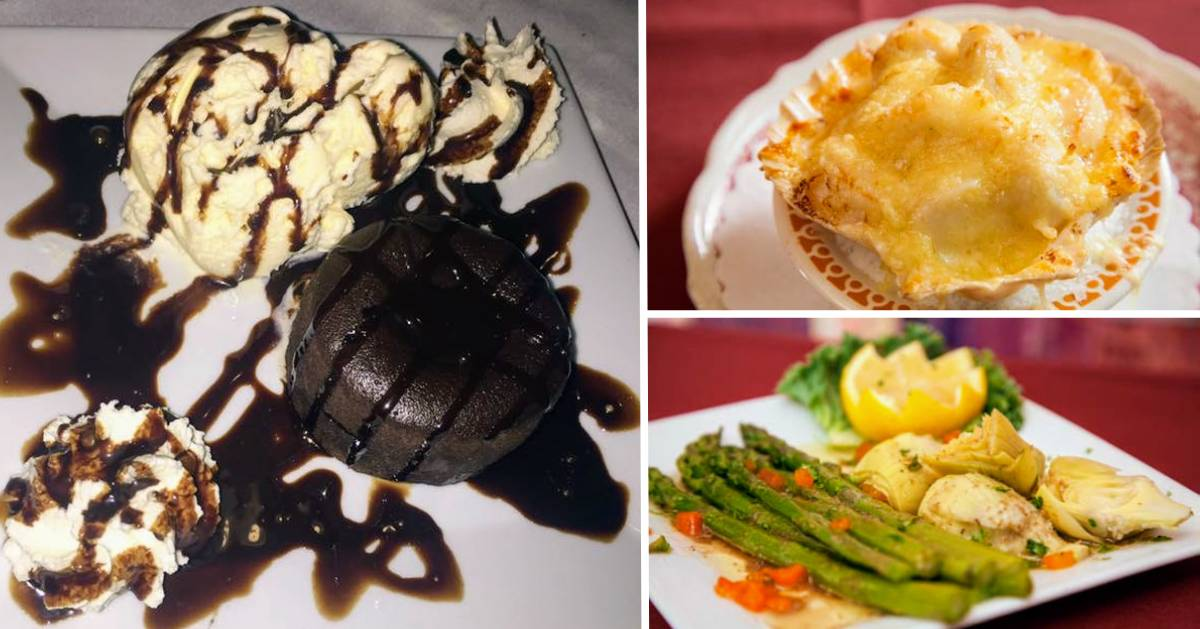 collage of three food photos