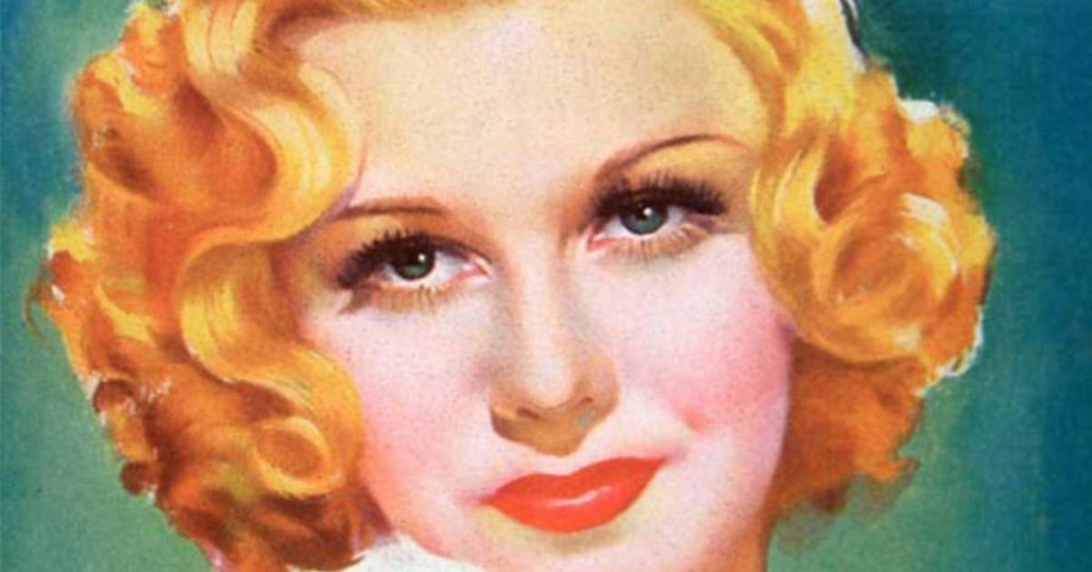 drawn image of blonde woman