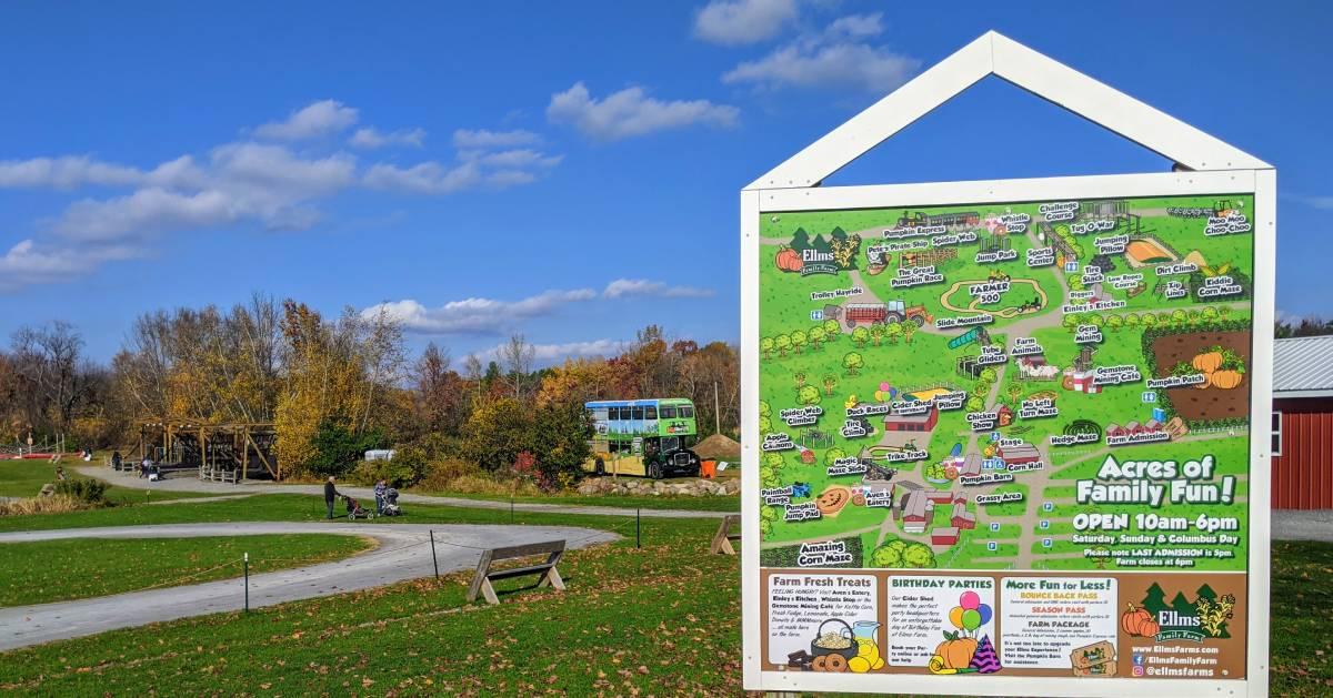farm map sign