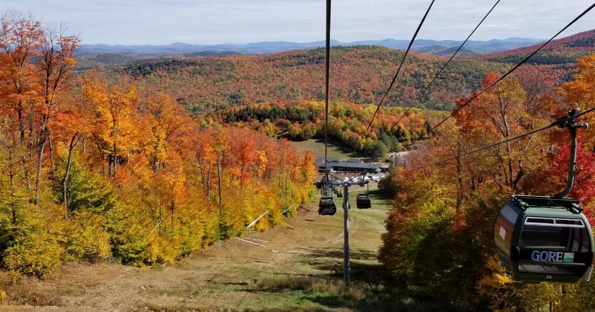 fall foliage, gondola ride