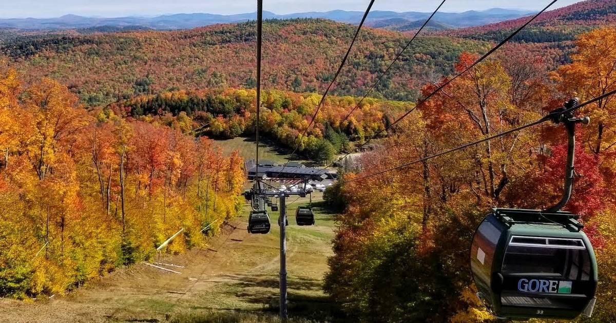 gondola ride in the fall