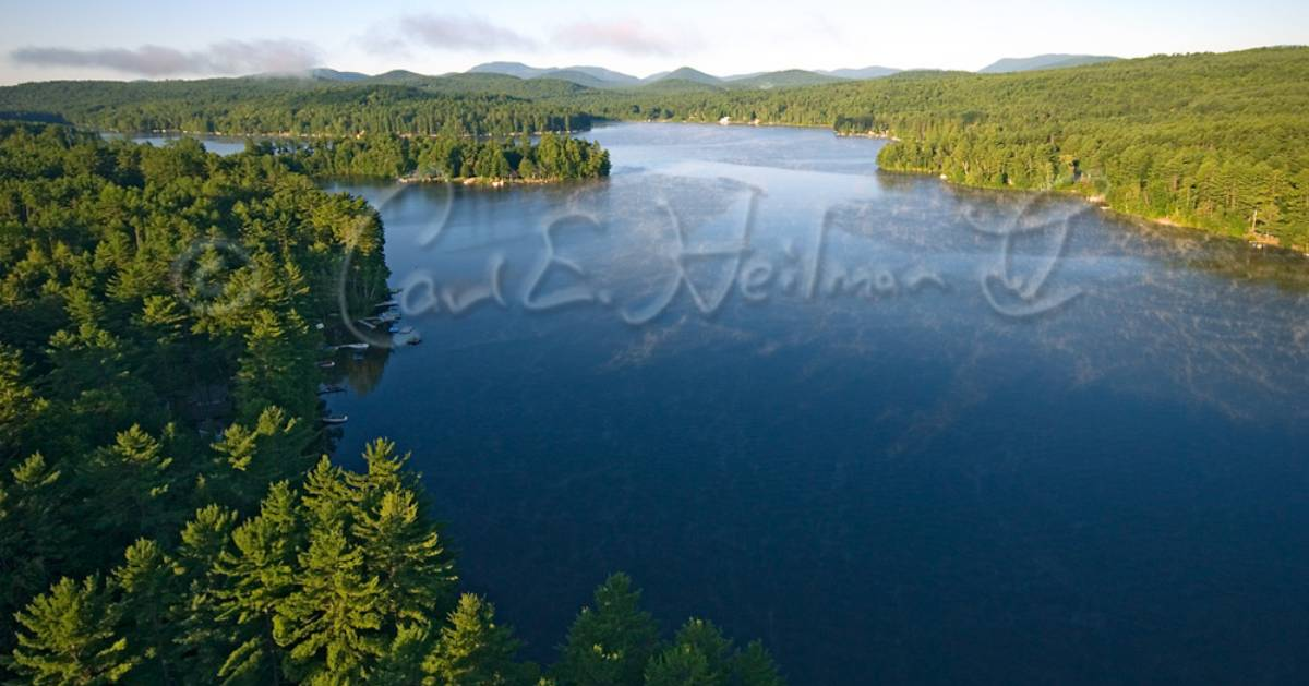 aerial view of Loon Lake