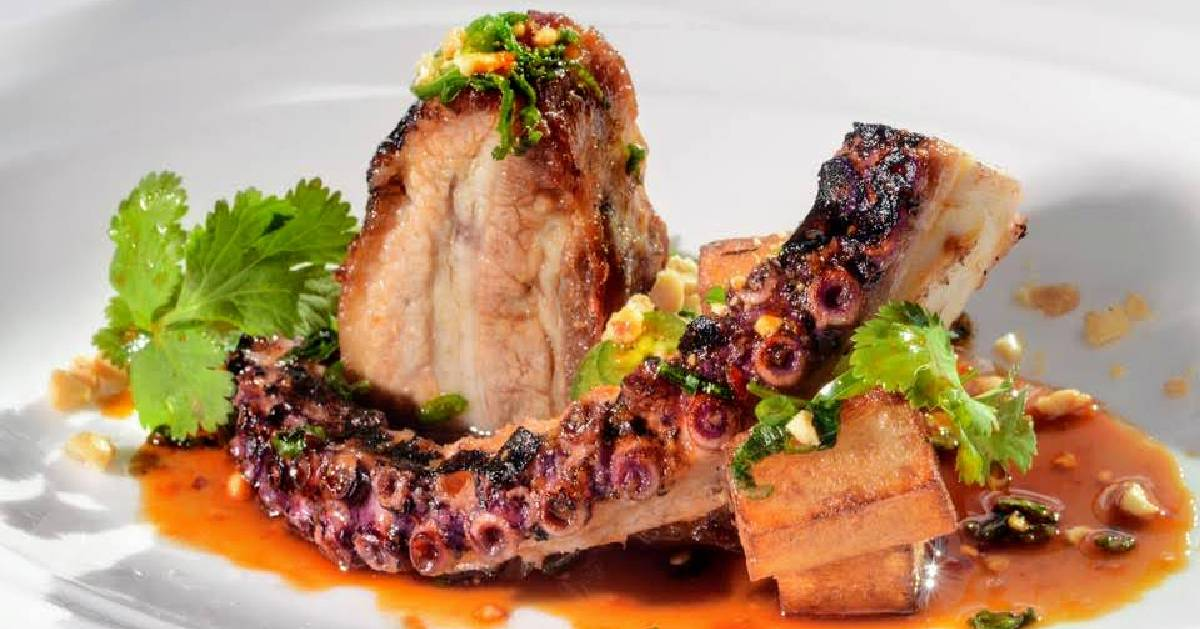 octopus and pork belly