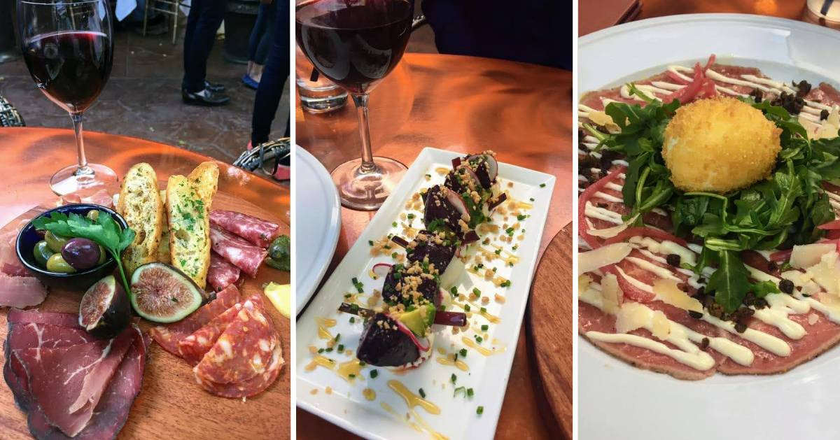 image split in three of food photos