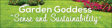 Garden Goddess Sense and Sustainability Banner