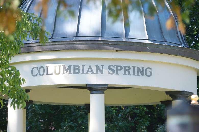 covered pavilion encasing columbian spring