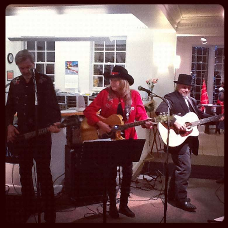 Local Musicians, The Bluebillies performing in Lapham Gallery space
