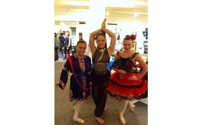 Dancers from Realty Dance Studio at a Holiday Shop Event