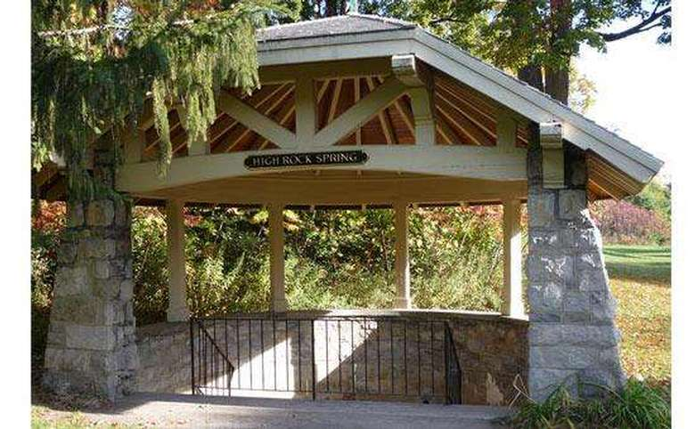 pavilion protecting high rock spring