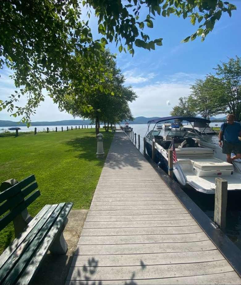 boat by dock