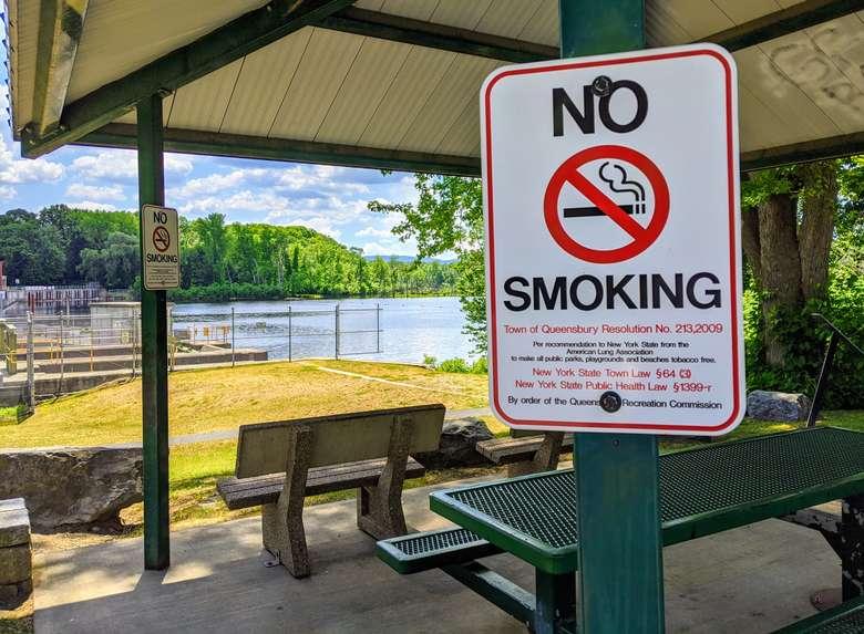 no smoking sign at park