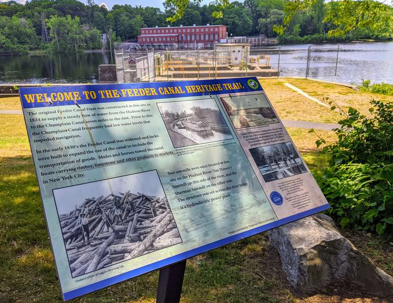 Feeder Canal Heritage Trail sign