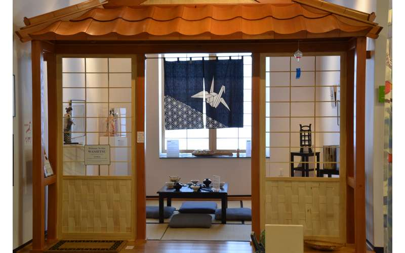 Learn about Japanese traditions at the Japanese Tea House.