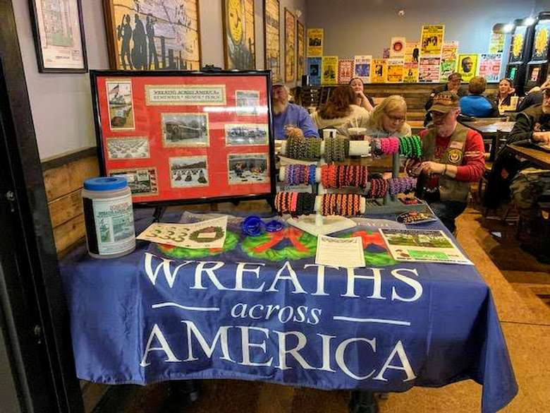 Wreathes Across America vendor booth