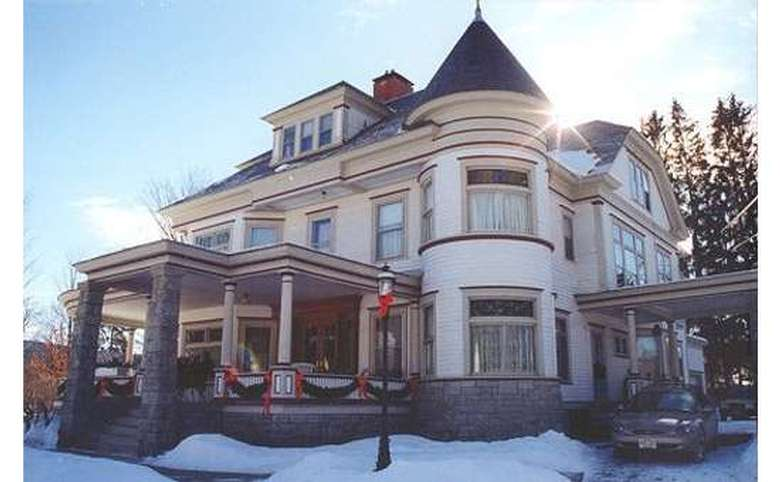 the bed and breakfast from the outside in the winter