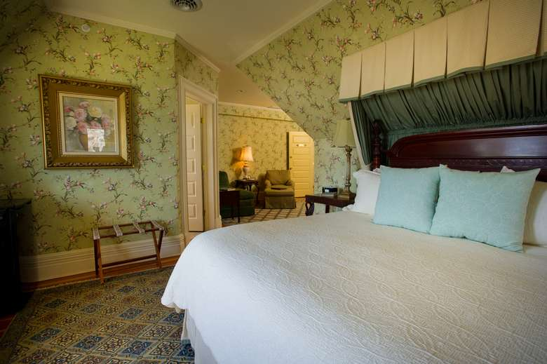 an intimate and romantic bedroom at the Inn