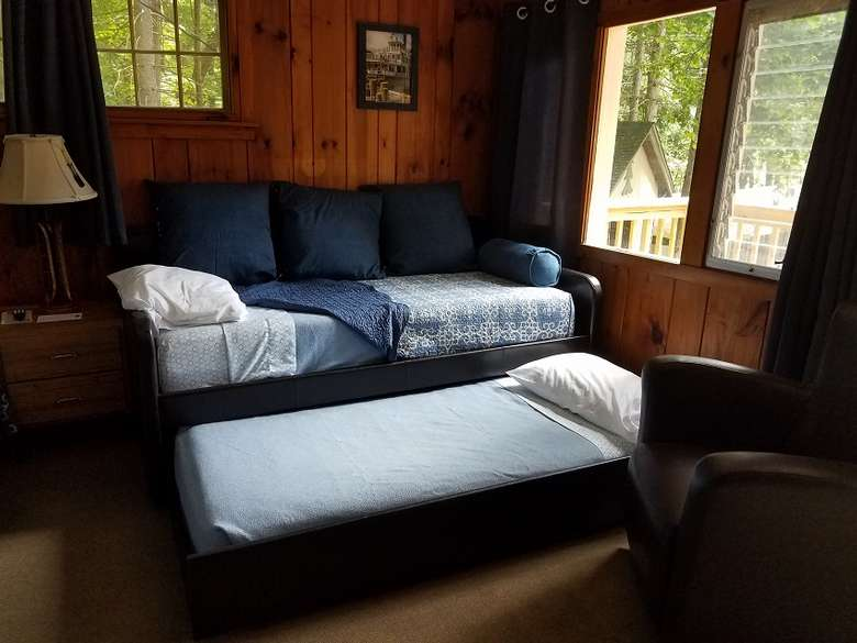 Duplex Cottage #10 now features a trundle bed for families.