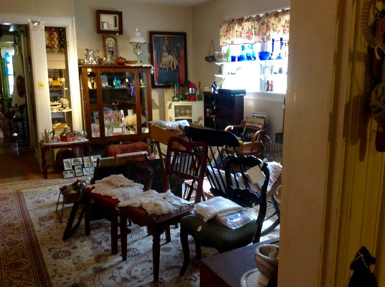 room full of antiques