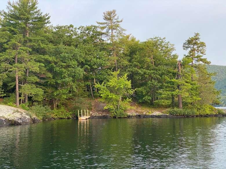 campsite on Burgess Island