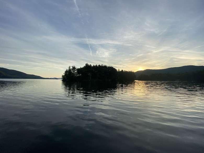 Nobles Island on Lake George