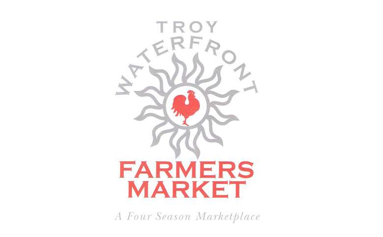 troy waterfront farmers market logo